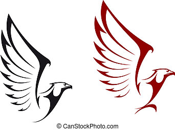Eagles isolated on white background for mascot or emblem design