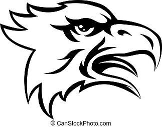 Eagle Mean Animal Mascot - An illustration of a eagle animal...