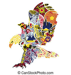 eagle miniatures symbolizing Americ