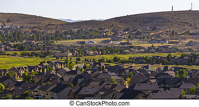 Eagle Mountain homes by the golf course and hills