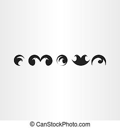 eagle or hawk bird icons set vector collection