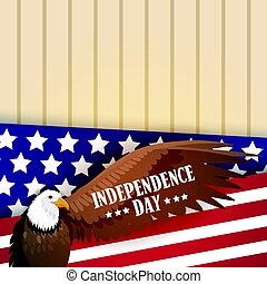 Eagle Over United States Flag Independence Day Holiday 4 July Banner