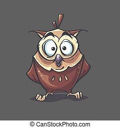 eagle-owl, imagen, plano de fondo, ilustración, vector