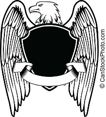 eagle shield - Vector illustration an eagle and board