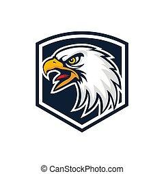 eagle shield vintage emblem logo