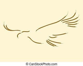 Eagle - Simple sketch of a soaring eagle