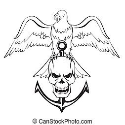 eagle skull anchor