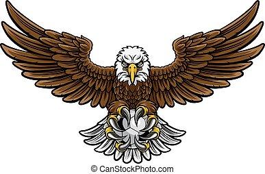 Eagle Soccer Football Mascot