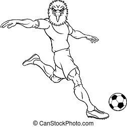 Eagle Soccer Football Player Animal Sports Mascot