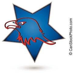 Eagle symbol star logo