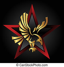 Eagle symbol with star - illustrationon