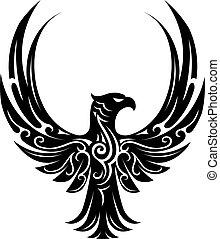 Eagle tattoo shape