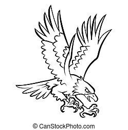 Eagle Tattoo Vector Illustration