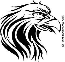 Eagle tattoo, vintage engraving.