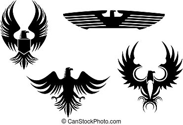 Eagle tattoos - Eagle symbol isolated on white for tattoo ...