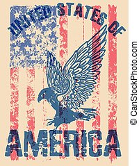 Eagle tee poster graphic design