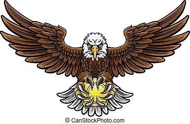 Eagle Tennis Sports Mascot