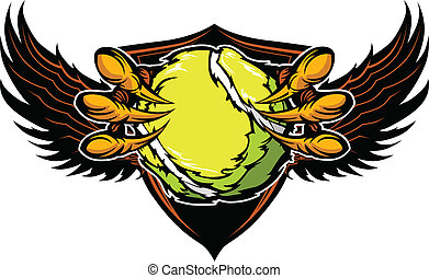 Eagle Tennis Talons and Claws Vector Illustration