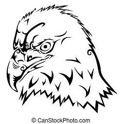 Eagle tribal tattoo