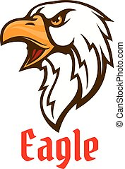 Eagle vector emblem. Hawk graphic symbol