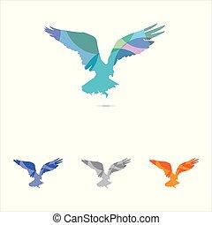 eagle vector logo design, eagle, falcon hawk colorful illustration