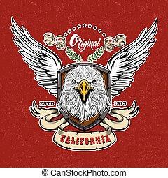 Eagle Vintage Style Logo
