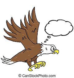 eagle with speech bubble