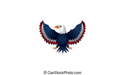 eagle with united states of america flag