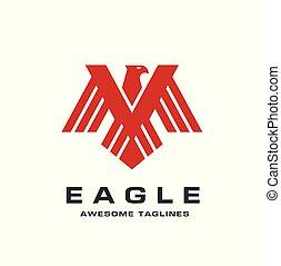 eagle technology concept vector logo