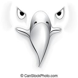 Eagle4 - illustration of eagle black and white