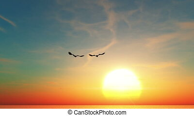 eagles and horizon
