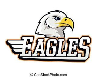 eagles banner illustration design