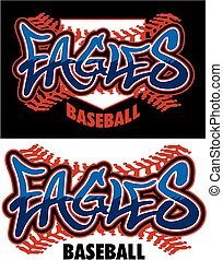eagles baseball - graffiti eagles baseball team design with...