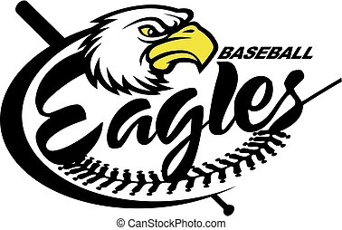 eagles baseball team design with mascot for school, college...