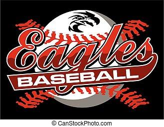 eagles baseball team design in script with mascot head for ...