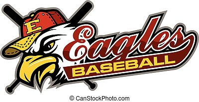 eagles baseball team design in script with tail for school,...