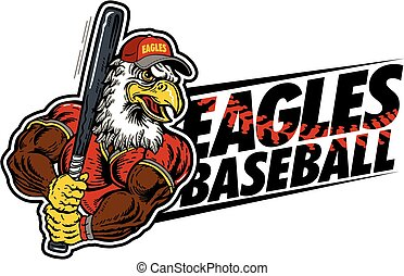 eagles baseball team design with a muscular mascot for...