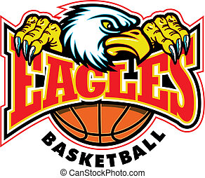 eagles basketball design with mascot and talons