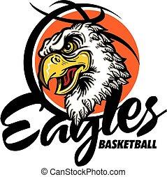 eagles basketball team design with mascot head inside...
