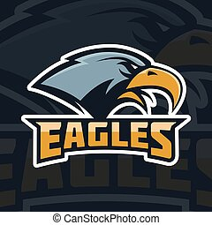 Eagles. emblem template with eagle head. sport team mascot.