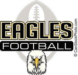 Eagles Football Design With Eagle Head