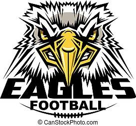 eagles football mascot team design for school, college or ...