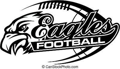 eagles football team design in script with tail for school,...
