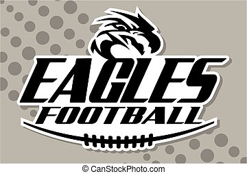 eagles football team design with mascot and laces