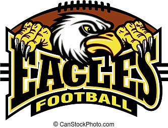 eagles football team design with mascot for school, college ...