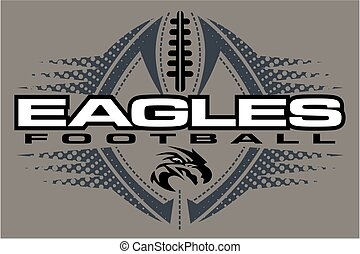 eagles football team design with mascot head for school, ...