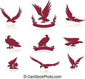 Eagles Silhouettes Set