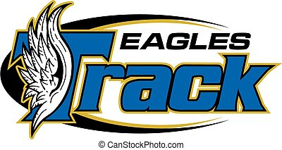 eagles track team design with wings