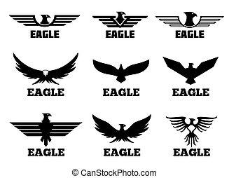 Eagles vector logo set