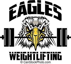 eagles weightlifting team design with mascot holding barbell...